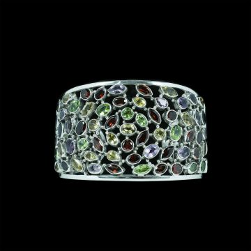 Multi Stone Designer Bangle (70.9 Grm)