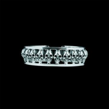 Skull Designer Bangle (41.7 Grm)