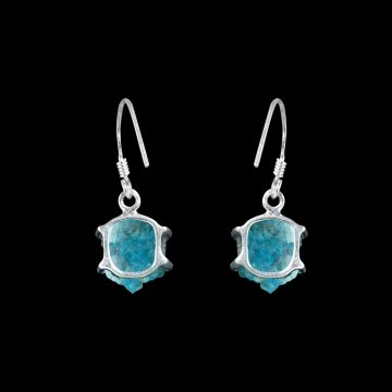 Apatite Rough Cut Stone Earring (3.4 Grm)