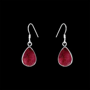 Ruby Heated Cut Stone Designer Earring (4.4 Grm)
