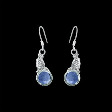 Sapphire Real Cut Stone Designer Earring (2.1 Grm)