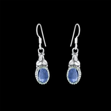 Sapphire Real Cut Stone Designer Earring (2.2 Grm)