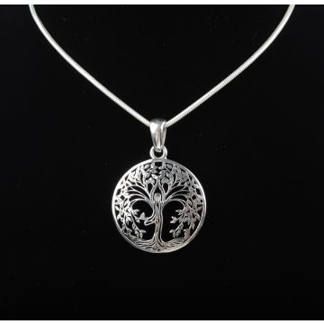 Sterling Silver Tree of Life Pendant (9.7 Grm)
